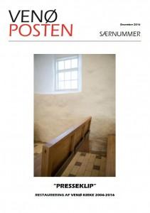 """""""Presseklip"""" - restaurering af Venø Kirke 2006-2016"""